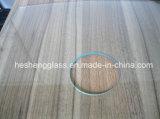 8mm claro cuadrado de vidrio templado con agujeros
