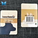 Laminación brillante doblada Etiqueta colgante 350g colgar la etiqueta de papel para Productos para mascotas