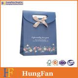 Farbband-Knoten-eleganter Luxuxpapiergeschenk-Beutel/Einkaufstasche/Paket-Beutel