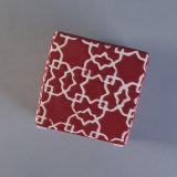 De vierkante Ceramische Houder van de Kaars met Rode Verglazing