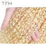 Venda por grosso 10um brasileiro Cabelos encaracolados tecem 613 cabelos loiros 100% virgem pacotes de cabelo humano Ramy Extensão de cabelo