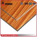 Preto Ideabond Painel do tipo sanduíche de alumínio de madeira de nogueira (AE-303)