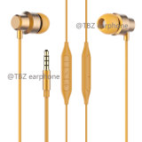 Mirophone를 가진 Matel 양 에서 귀 고품질 입체 음향 이어폰