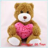 De Gift van de valentijnskaart met de Rode Teddybeer van de Pluche van het Hart
