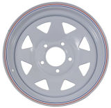 (5-108) белая оправа колеса трейлера 13X4.5