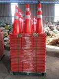 適用範囲が広い固体オレンジおよび白いPVCトラフィックの円錐形は道路交通の安全円錐形を重くする