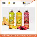 Etiqueta colorida adesiva de papel plástica do frasco da impressão da etiqueta do suco de fruta