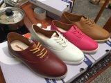 중국은 여자 PU 가죽 신발, 여자 단화, 단화… 고품질의 상표를 붙였다. 4000pairs