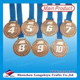 Medalla de deportes de metal con logotipo personalizado grabado