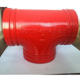 La aprobación FM UL de hierro de fundición Equall Tee para la lucha contra incendios