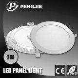 Nuevo diseño delgado 3W luz del panel LED con CE Certificado RoHS