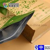 Quad papel laminado inferior de la bolsa de embalaje de alimentos para mascotas