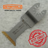 Lámina de sierra oscilante de titanio bi-metal