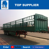 Titan-Fahrzeug 60 Tonnen-Zaun-Typ Flachbett-Sattelschlepper