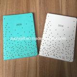 2018 Folhas e tiras douradas personalizadas de couro PU térmica de carimbar uma Agenda5 capa dura agenda oficial o notebook