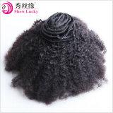 De natuurlijke Klem van de Uitbreiding van het Menselijke Haar Remy Mongoolse Afro van de Kleur Onverwerkte Kroezige Krullende Maagdelijke in de Producten van het Haar