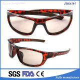 Óculos de sol plásticos polarizados de Ingection da Cheio-Borda da tartaruga do desenhador adulto novo