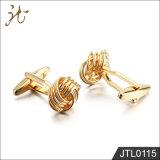 Botones del pun¢o del oro de Rose de la calidad de la manera Niza para la señora joven