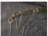 DIY Golden metálica prateada Nome Parper Clipe Clipes Nota titular do cartão