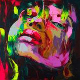 Espressione Face002 della pittura a olio della gamma di colori del ritratto di Francoise Nielly