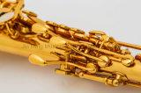 De goede Rechte Saxofoon van de Discant voor OEM van de Lak van het Lichaam van het Messing van de Beginner Gouden