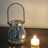De de creatieve Hangende Lamp van de Kaars van het Glas van de Strook Vlek Geplateerde/Houders van de Kaars
