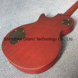 Norma Lp guitarra eléctrica de vinho tinto com Ebony Fretboard um pedaço do Corpo do Bocal (BPL-213)