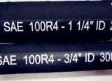 Beständige SAE R4 quetschverbindener Presse-hydraulischer Schlauch des Semperit Öl-