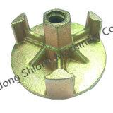 La construcción de metal de fundición de materiales de construcción material de encofrado de la tuerca de mariposa de metal de fundición de encofrados la tuerca de mariposa