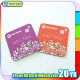 Lealtad de la codificación del URL y etiqueta del PVC Ntag215 NFC de las cupones