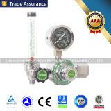 Счетчик- расходомер цилиндра медицинского кислорода стальной и цилиндра алюминия Autoclavable с регулятором