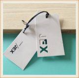 Etiqueta negra de encargo de gama alta de la caída del papel de la tarjeta