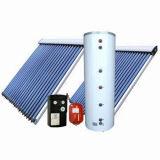 Système solaire actif fendu pressurisé de chauffe-eau de caloduc