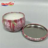 Vela de cerámica del estaño con el modelo hermoso