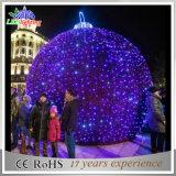 La lumière de Noël extérieure la plus neuve de motif de bille d'horizontal de la décoration DEL