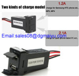 De Haven Socket USB Charger Parts 2.1A/1A Cellphone Charger van Dual USB van de auto voor Toyota