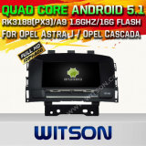 Auto DVD GPS des Witson Android-5.1 für Opel Astra J/Opel Cascada/Buick Excelle Xt mit Chipset 1080P 16g Support des ROM-WiFi 3G Internet-DVR (A5754)
