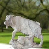 Una gran estatua de la cabra de mármol Sculture, esculturas de animales