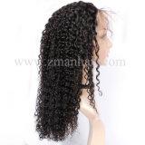 ジェリーの巻き毛の質の最上質の柔らかい弾力があるブラジルの毛の女性のかつら