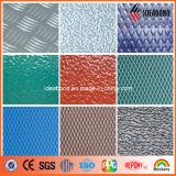 Предварительно обработанные гибкие с полимерным покрытием и тисненые композитные панели из алюминия серебристого цвета (012A)
