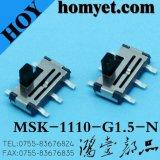 Interruptor deslizante vertical SMD com 6 pinos (MSK-1110-G4)