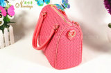 Hot Selling Korea Fashion Woven Design PU Sac à main pour femme