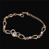 CZ-Kristall-Armband Schmucksachen der Goldfarben-Form-Frauen