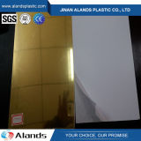 Plexiglás flexible del espejo del amarillo del oro de la hoja de acrílico del espejo