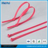 Lien de câble en nylon couleur rouge