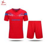 Le football uniforme Jersey d'impression de sublimation de vêtements de sport d'usure noire faite sur commande du football