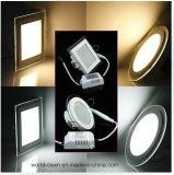 El alto panel ligero de cristal del lumen 18W LED LED (WD-Glass01-R-18W)