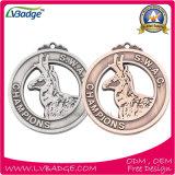Медаль чемпиона нового серебра золота конструкций латунное изготовленный на заказ