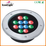 Waterdichte 12*1W LED Inground Garden Light DC24V met IP66