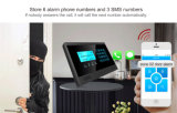 Sistema sem fio do alarme anti-roubo com 10 zonas sem fio e 4 prendidas